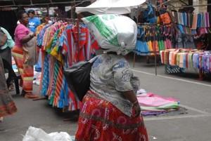 Woman in Durban's CBD
