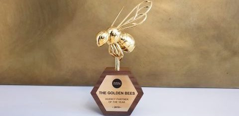 Photo of golden bee award